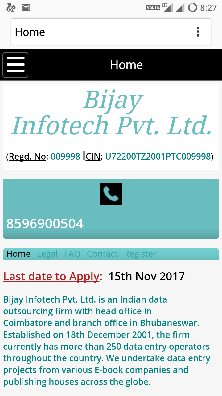 Bijay Infotech Pvt  Ltd  Complaints: Online Fraud At The Name Of
